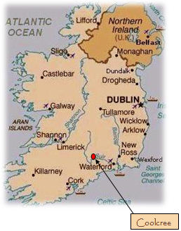 County Tipperary Ireland Map.Self Catering Cottage Accommodation Clonmel Tipperary Cottage